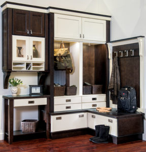 Black and white room cabinet.