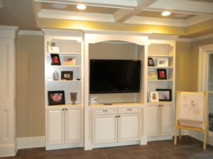 Ray Roswell Bookcase TV and picture frames cabinet.