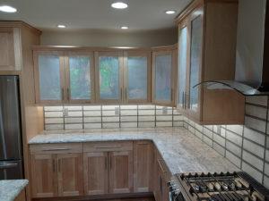 Wellborn Bristol 3 cabinet counter area.