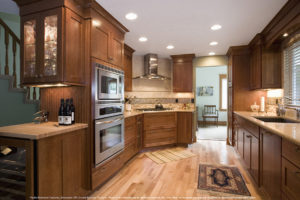 Wellborn Hanover kitchen area cabinets.