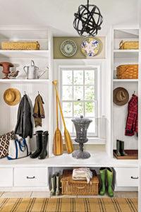 Portrait view of white personal storage cabinet.