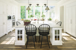 Wellborn Henlow Inset white beautiful dining cabinets.
