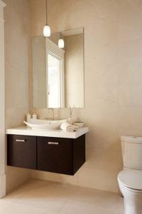 Wellborn Milan brown toilet cabinet.